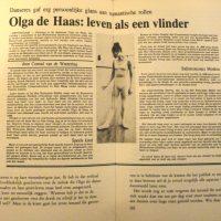 Olga de Haas, Life as a butterfly