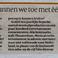 Newspaper article Dutch National Ballet